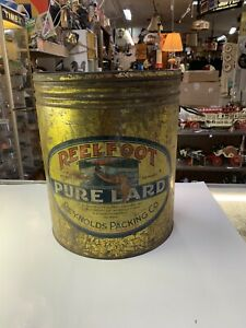 Antique REELFOOT Pure Lard Can 50 LBS Union City Tennessee Rare!
