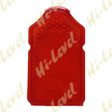 CUSTOM MOTORCYCLE MINI TOMBSTONE TAIL LIGHT LENS RED 84mm x 46mm BC38214  T