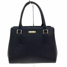 Auth Burberry Black Leather Handbag