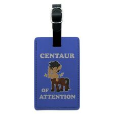Centaur Center of Attention Funny Humor Rectangle Leather Luggage Card ID Tag