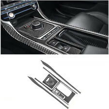 10Pcs Carbon Fiber Gear Shift Set Panel Cover Trim For Jaguar F-Pace X761