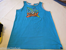 Boys Youth Quiksilver L blue tank top shirt NEW Hawaiian Ocean BMJ0 Comic