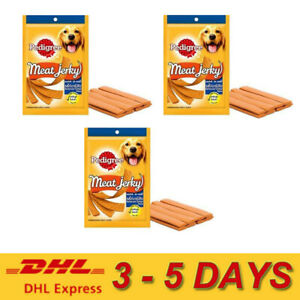 3 x Pedigree Meat Jerky Babecued Chicken Flavor Dogs Food Nutritionally complete