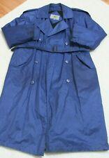 Amanda Smith Rain Jacket Coat Blue Black Womens Button Up 10 Ten Womans Striped
