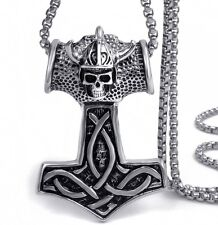 Anhänger XXL Thorhammer Wikinger Skull Totenkopf  Mjölnir Wikinger Odin NA30