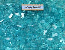 LEGO - 1x2 Tiles Translucent Light Blue - Trans Finishing Plates Smooth Bulk Lot