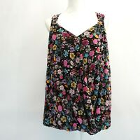 INC Womens Plus Size Top Floral Sleeveless Surplice Semi Sheer Top Blouse $59