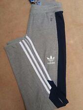 Nuevo Adidas Originals Teorado Gris Retro Pantalones Chándal Pantalón de pista hombres grandes