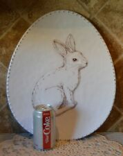 """Cute Memlamine Bunny Rabbit Platter~15.5"""" X 13""""~Euc~By House And Garden~Easter"""