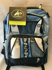 """New listing Athletech 18"""" Blue & Silver Kids Backpack W/ Water Bottle & Lunch Box New Bp101"""
