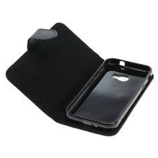 Book Case Etui Handytasche Tasche Hülle f. Samsung Galaxy Xcover 4 (Schwarz)