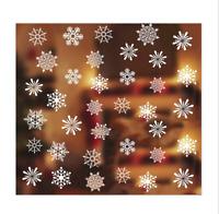 2x Fensterbilder, Sticker - Schneeflocken / Winter - Motiv Weihnachtsdeko