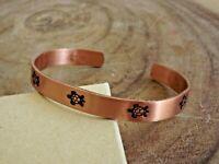Pure Copper Arthritis Bracelet - Solid Copper Adjustable Cuff Bracelet - Turtle