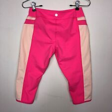 Lululemon Pink White Athletic Crops Pants Womens Size 6 Stretch Casual Yoga Gym