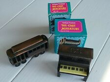 Cable Car & Upright Piano ~ 2 Mini Die-Cast Metal Pencil Sharpeners