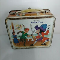 Vintage 1969 Walt Disney Peter Pan Metal Lunch Box Aladdin No Thermos