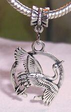 Sandhill Whooping Crane Bird Dangle Bead Gift for Silver European Charm Bracelet