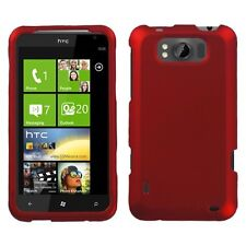 For AT&T HTC Titan Rubberized HARD Protector Case Snap On Phone Cover Red
