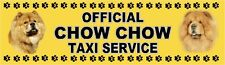 CHOW CHOW OFFICIAL TAXI SERVICE  Dog Car Sticker  By Starprint