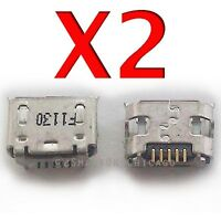 """2X Alcatel 3T 9027W 8.0"""" Micro USB Charger Charging Port Dock Connector T-Mobile"""