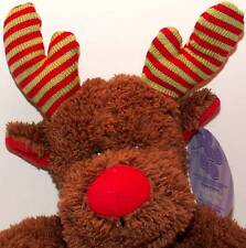 Christmas Fuzzy Reindeer - Ho Ho Ho Plush! New!