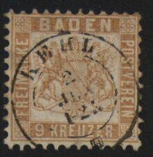 Baden 1862 20b Freimarke gestempelt