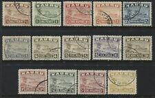 Nauru 1937-48 complete set to 10/ on glazed white paper used
