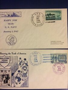 HAPPY NEW YEAR KENNETH D BAILEY (DD-713) & 2CD ITEM NAVAL POSTAL HISTORY COVERS