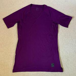 Nike Pro men's compression short sleeve top t shirt   purple   large   brand new