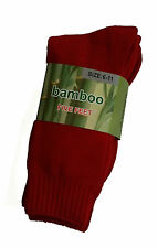 3 PRS MENS SZ 6-11 RED EXTRA THICK HEAVY DUTY BAMBOO WORK SOX