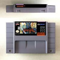 Hagane Game Card Console For Nintendo SNES US Version 16 Bit English