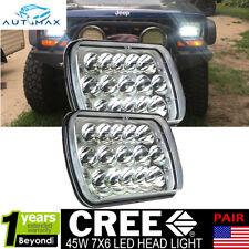 "2pcs 7x6"" Inch LED CREE HID Bulbs Headlights Sealed Beam High Low Beam Headlamps"