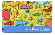 Lady Foot Locker Colorful Sneakers Shoes Gift Card No $ Value Collectible