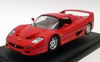Burago 1/24 Scale Model Car 1562 - 1995 Ferrari F50 Hardtop - Red