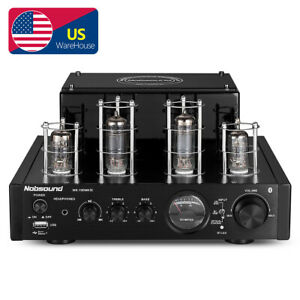 HiFi Bluetooth Tube Power Amplifier OPT/COAX Stereo Subwoofer Amp USB Player