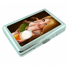 German Pin Up Girls D4 Silver Metal Cigarette Case RFID Protection Wallet