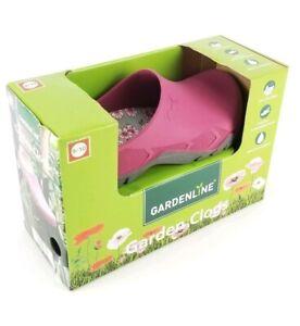 Gardenline Garden Clogs Womens 9-10 Purple Rubber Slip on, removable insock New