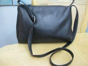 Soft Black Leather Derek Alexander Crossbody Satchel Style Handbag Purse