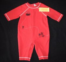 NWT Baby Boys Gymboree Pirate Island One Piece Red Black Size 3-6 Months M