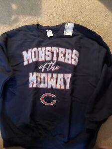 Chicago Bears Monsters of the Midway Gildan XL Crew Neck Sweatshirt New