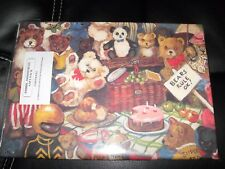 """Teddy Bears Kids Wrapping Paper 4 Sheets 19.5"""" x 27.5"""" Gift Wrap"""