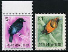 Papua Neuguinea 1993 Freimarken Paradiesvögel Vögel 663 + 666 II July 1993 / 357