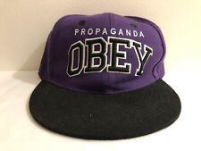 Obey Propaganda SnapBack Hat Cap Purple Black Size 7 57 cm Vintage
