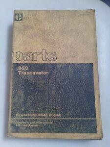Caterpillar 983 Traxcavator parts manual. Genuine Cat book.
