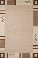 Tapis Tapis modernes à poils ras NEUF design brun clair-beige 80x300