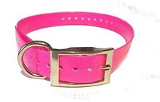 """Sparky PetCo 1"""" Square Buckle Neon Pink High Flex Waterproof, Replacement Strap"""