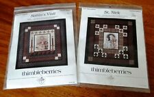 2 Christmas Quilt Patterns Thimbleberries St. Nick and Santa's Visit + Panel NEW