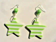green star earrings nautical sea ocean crystal cute beach striped stripey sailor