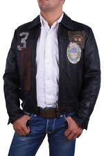 La Martina señores chaqueta chaqueta de cuero negro talla xs #4