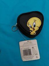 LOONEY TUNES TWEETY  bird KEYCHAIN coin purse change purse 1998 vtg new